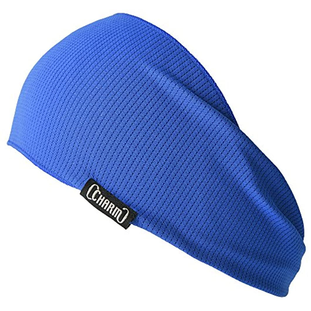 固める朝の体操をする浸すCHARM ヘアバンド [ フリーサイズ / 全5色展開 ] 吸汗 速乾 UVカット ターバン (日本製)