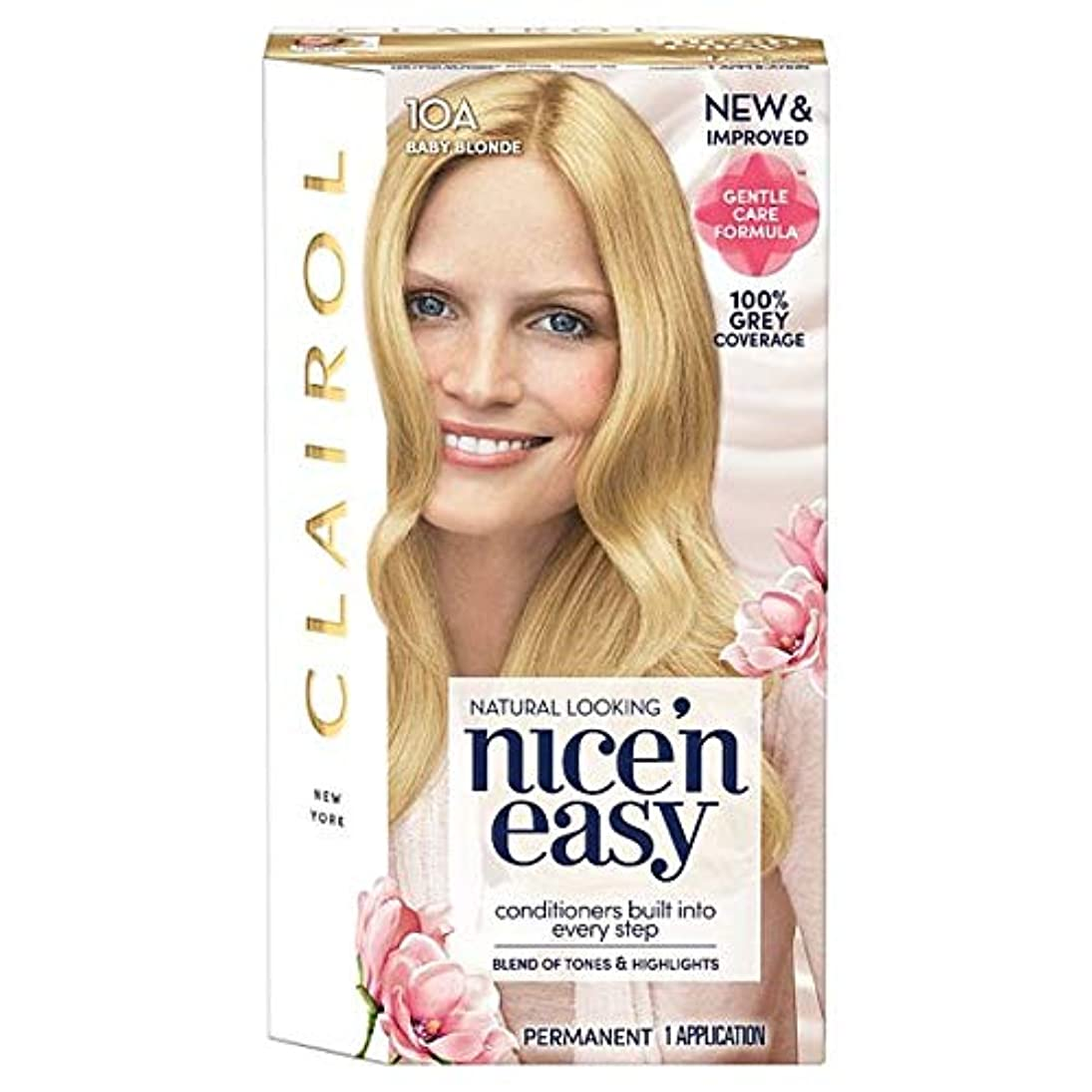 獲物浅い顕著[Nice'n Easy] クレイロール素敵な「N簡単赤ん坊ブロンド10Aの染毛剤 - Clairol Nice 'N Easy Baby Blonde 10A Hair Dye [並行輸入品]