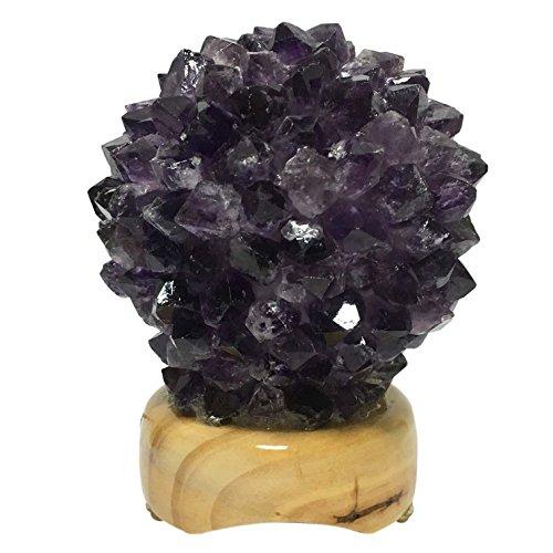 アメジスト ランプシェード インテリア パワーストーン 観賞石 ライトスタンド 照明 紫水晶 原石
