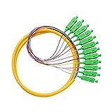 12コアスタンドFTTH SC / APCシングルモード光ファイバピグテール