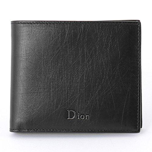 Dior Homme ディオールオム 2UFBH027 XLA 00NU ヴィンテージレザー 二つ折り財布 小銭入れなし ロゴメタルプレート H00 H00N/Noir [並行輸入品]