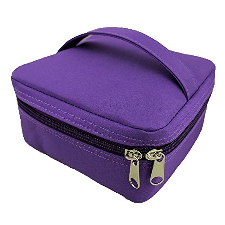 容器代替案に対応エッセンシャルオイル ポーチ スージングテラ スクエア (パープル(紫))