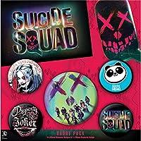 SUICIDE SQUAD スーサイドスクワッド - FACE 5個セット / バッジ 【公式/オフィシャル】
