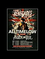 All Time Low Pierce The Veil - The Young Renegades UK Tour March Mini Poster - 40.5x30.5cm