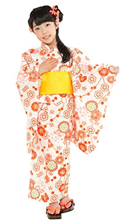 浴衣 こども 女の子 単品 古典柄 子供浴衣 選べる色(赤 紫 ピンク 紺 オレンジ 生成り) 選べるサイズ(100 110 120 130 140 150) OCN