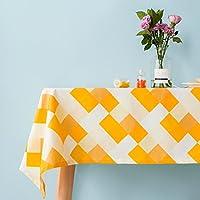 防水テーブル クロス,火傷防止テーブル クロス,汚れにくいテーブル クロス,スクエア 洗浄無料 ファイバーコート 通気性 黄色 レストラン 北欧スタイル テレビ キャビネット-A 120*180cm