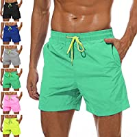 YnimioAOX Men's Swim Trunks Quick Dry Swim Shorts with Mesh Lining Waterproof SwimmingTrunks for Men