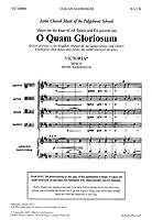 Victoria: O Quam Gloriosum (Washington)