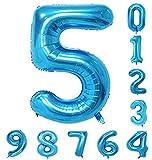 バルーン(0-9)青の数字誕生日パーティー40インチのアラビア数字の装飾5