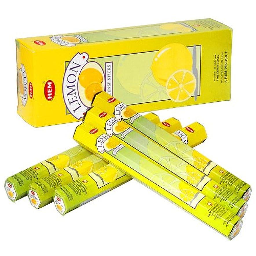 自明期間分泌するHEM (ヘム) インセンス スティック へキサパック レモン 6角(20本入)×6箱 [並行輸入品]