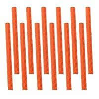Lovoski 自転車 スポーク用  反射スポーク 反射スティック スポークリフレクター   全6色選べる 12本 - オレンジ