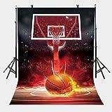 ERTIANG 150x220cm ホットブラッド バスケットボール バックドロップ ホットブラッド バスケットボールシリーズ 写真撮影用背景 カメラ 写真撮影用小道具用