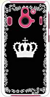 ohama F-03F Disney Mobile on ディズニーモバイル ハードケース y013_a シンプル クール オーナメント風 王冠 スマホ ケース スマートフォン カバー カスタム ジャケット docomo