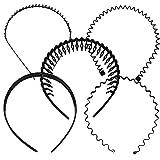 【Alpha line】カチューシャ 5種セット シンプル 男女兼用 アレンジ 髪留め フリーサイズ
