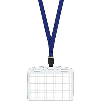 コクヨ ネックストラップ名札 アイドプラス 名刺・ID用 ナフ-T180B 青