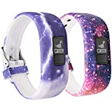 (Y 2-Pack Universe) - 12 Colours Garmin Vivofit JR Bands With Secure Watch Clasp , BeneStellar Silicone Replacement Bands for Garmin Vivofit JR (for Kids)
