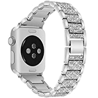 VOMA Apple Watch Band 38mm Women & Men Apple Watch Band 42mm Stainless Steel iWatch Band 38mm iWatch Bands 42mm for Apple Watch Series 3 Series 2 Series 1 Nike+ Sport Edition(Diamond Silver 42mm) [並行輸入品]