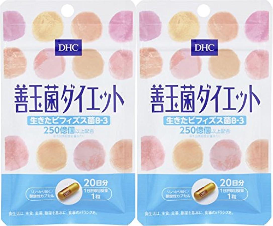 ブラケット表示凍結【セット品】DHC 20日善玉菌ダイエット 2個セット
