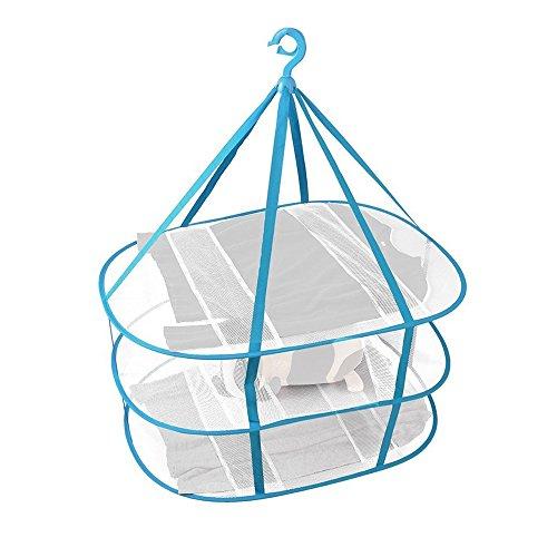 物干しネット, 洗濯物干しネット 平干しネット 3段 折りたたみ式 コンパクト 虫除けネット 吊り下...