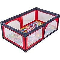 ベビーサークル 赤ちゃんは、マット&100玉を庭屋内幼児のベビーサークルポータブル子供の安全柵プレイヤードを再生します (色 : Red)