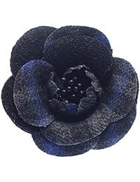 全5色2トーンカメリア 花のメンズコサージュ ラペルピン ピンブローチ ピンズ