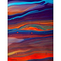 Painting Drawing Oil Paint Blend Mix Linear Pattern Canvas Print