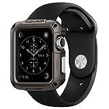 Apple Watch ケース, Spigen? [エアクッションテクノロジー] タフ・アーマー アップル ウォッチ (42mm) 【国内正規品】(2015) (ガンメタル【SGP11504】)