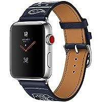 【国内正規品】 Apple Watch Hermès ステンレススチールケースとヴォー・ガラ(マリン)シンプルトゥールエプロン・ドールレザーストラップ Series3 アップルウォッチ エルメス 本体 純正 GPS+セルラーモデル (38mm)