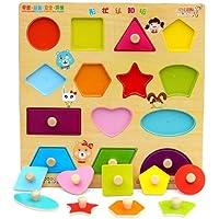 【SDR】 知育玩具 知育 玩具 おもちゃ 型合わせ 形あわせ 木製 脳トレ はめ込み パズル 丸 ひし形 三角 四角 長方形 正方形 台形 平行四辺形 五角形 六角形 ペンタゴン 星型 スター 半円形 ハート 楕円形 五角形 カラフル 持ち手 つかむ 創造 想像 学習 認識 認知 14個 可愛い 幼稚園 保育園 訓練 識別 遊び 赤ちゃん 子供 こども 練習 教育