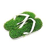 [M0N0liTH] レディース メンズ 芝生 ビーチサンダル サンダル ビーサン スリッパ 人工芝 草 芝 ベランダ オフィス 大人 子供 (M:24.0-25.5 cm)
