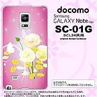 SC01G スマホケース GALAXY Note Edge SC-01G カバー ギャラクシー ノート エッジ 花柄・ミックス(D) ピンク nk-sc01g-285