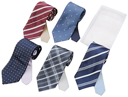 (フローレンスペック) FLORENCEPEC(フローレンスペック) FLORENCEPEC ウォッシャブルネクタイ5本セット 洗濯ネット付き J5P000001 007 A-7 Free