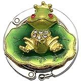 OHAGI バッグハンガー バッグフック バッグホルダー かばん掛け かばんフック カエル 蛙 王子様 (ライトグリーン)