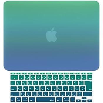 MS factory MacBook Air 13 ケース + 日本語 キーボード カバー ハードケース グラデ4種/単色14色カバー RMC series マックブック エア 13.3 インチ Early 2015 対応 マット加工 Mavericks RMC-SETA13-MVC