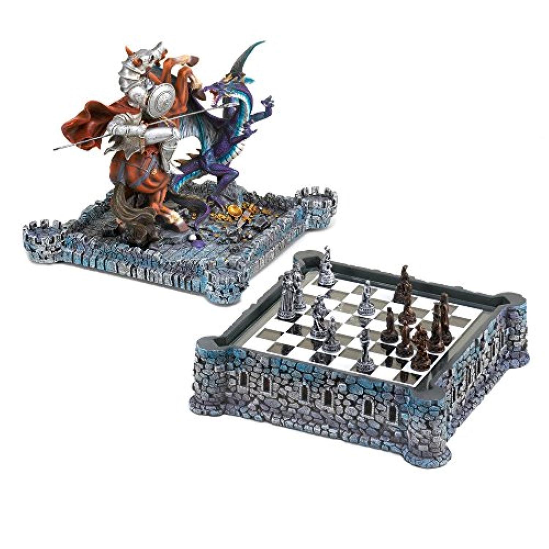 Medieval Dragon Chess Set Dragon Chess Board Dragon Fantasy Chess Set