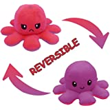 Reversible Octopus Plush Toy Adorable Double-Sided Flip Octopus Doll, Happy and Angry Octopus Stuffed Animals Doll, Creative