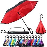 リバース逆向き自動開閉傘―男女両方向けの上下逆の防風傘(15種のデザイン)