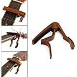 Xatan Guitar Capo Quick Change Acoustic Guitar Accessories Guitar Picks Trigger Capo Key Clamp Rosewood
