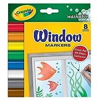 Crayola Llc Crayola 8ct Washable Windowマーカー 58-8165