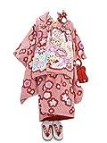 (陽気な天使) 訳あり 女の子 七五三 3歳 正絹被布7点セット 疋田絞り 桶絞り 金駒刺繍 絵羽柄 毬 花