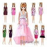 「Barwawa」ランダム5枚セット ジェニー用ドレスセット ウェア ジェニー用服  手作り ジェニー用着せ替え バービー人形 服 セット バービー用 服 ドレス ドール用 人形用 アクセサリー 1/6ドール用  きせかえ