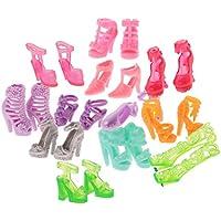 Lovoski 12ペア入り ドール用  おしゃれ  ハイヒール  サンダル ブーツ シューズ  靴  バービー人形適用  装飾