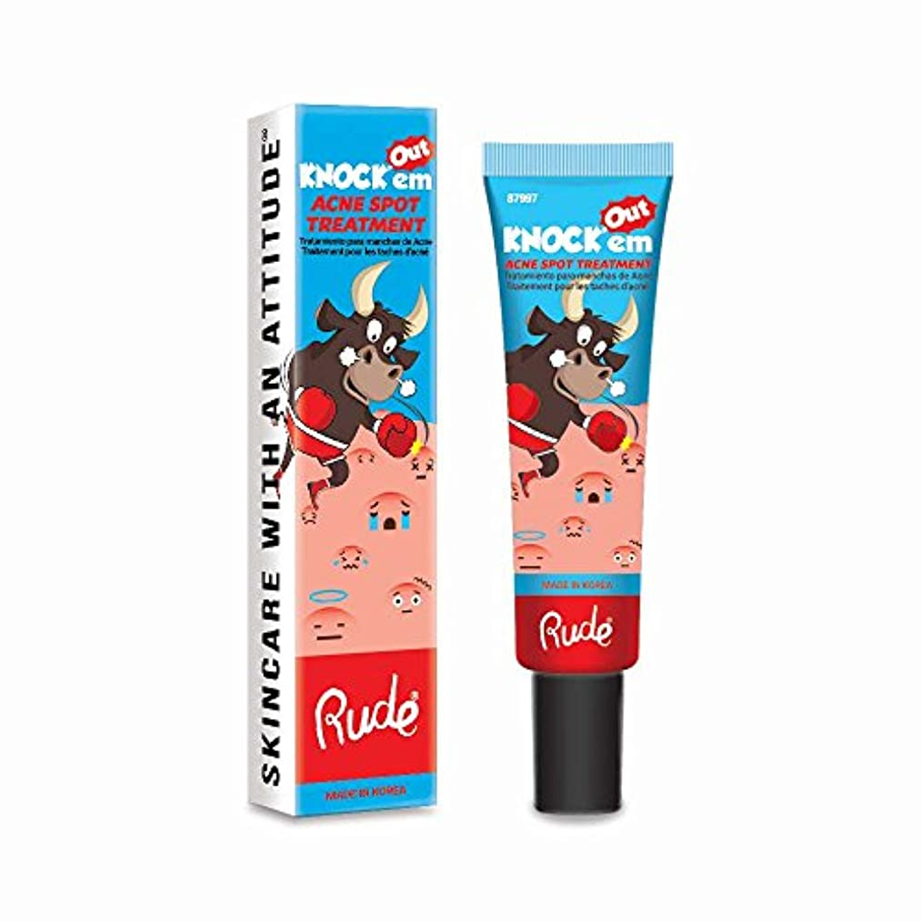 悪性腫瘍遠えアルファベット順(6 Pack) RUDE Knock'em Acne Spot Treatment (並行輸入品)