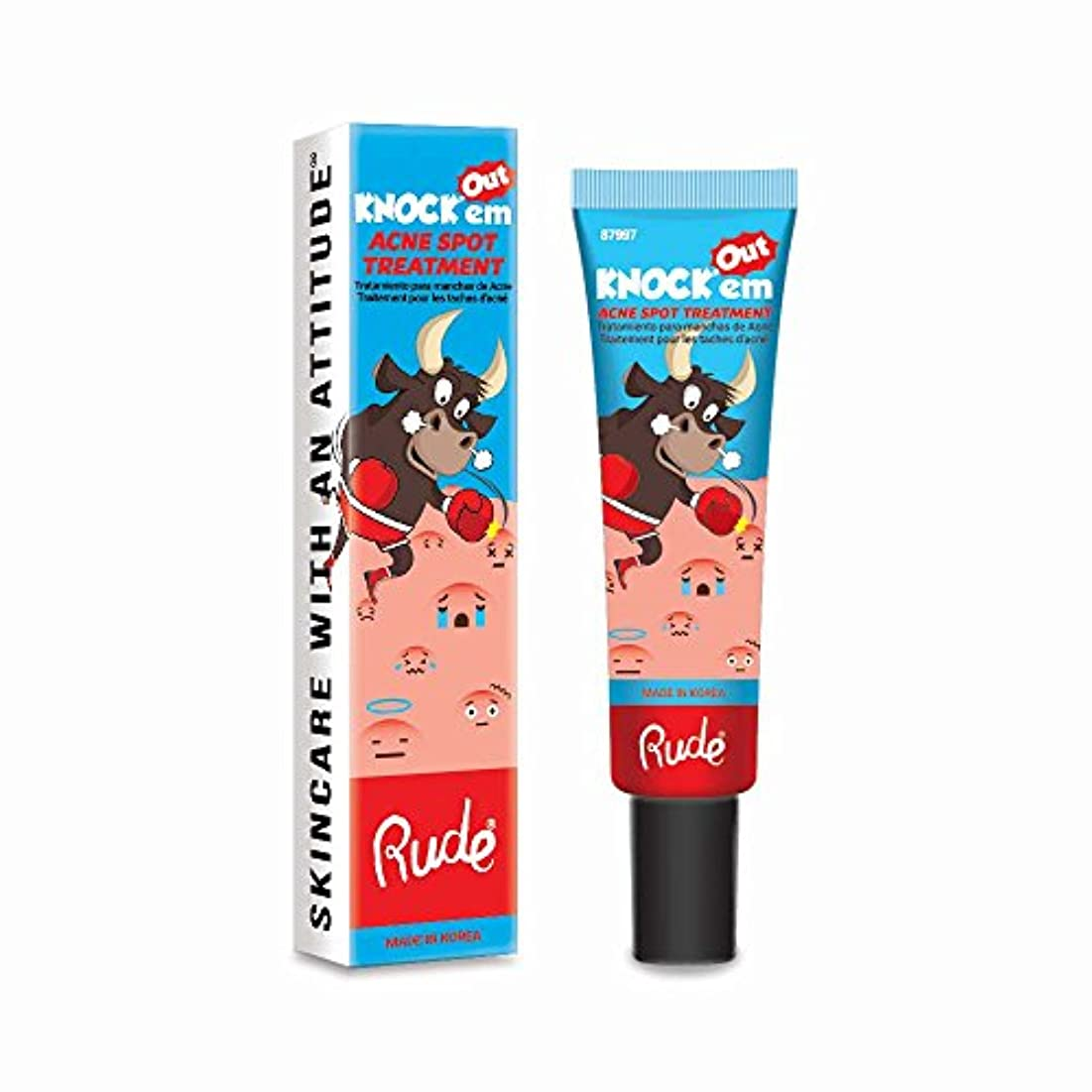一般的に債務きしむ(6 Pack) RUDE Knock'em Acne Spot Treatment (並行輸入品)
