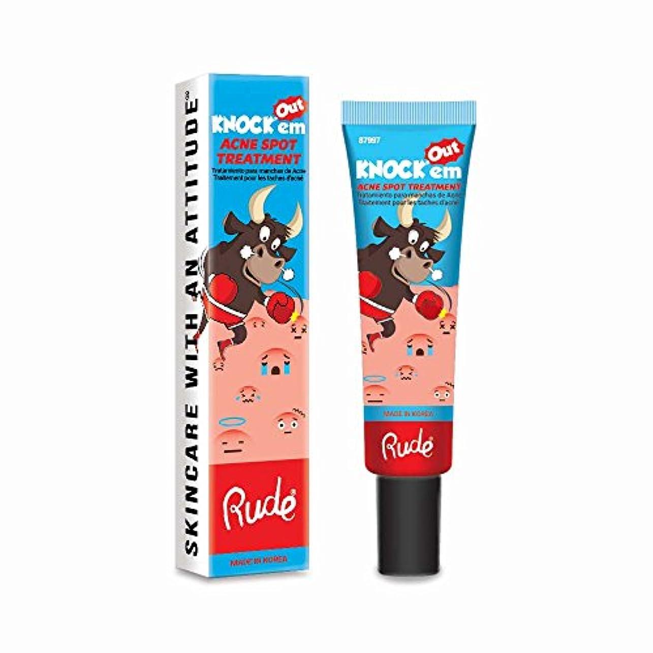 彫るイヤホン不毛(3 Pack) RUDE Knock'em Acne Spot Treatment (並行輸入品)