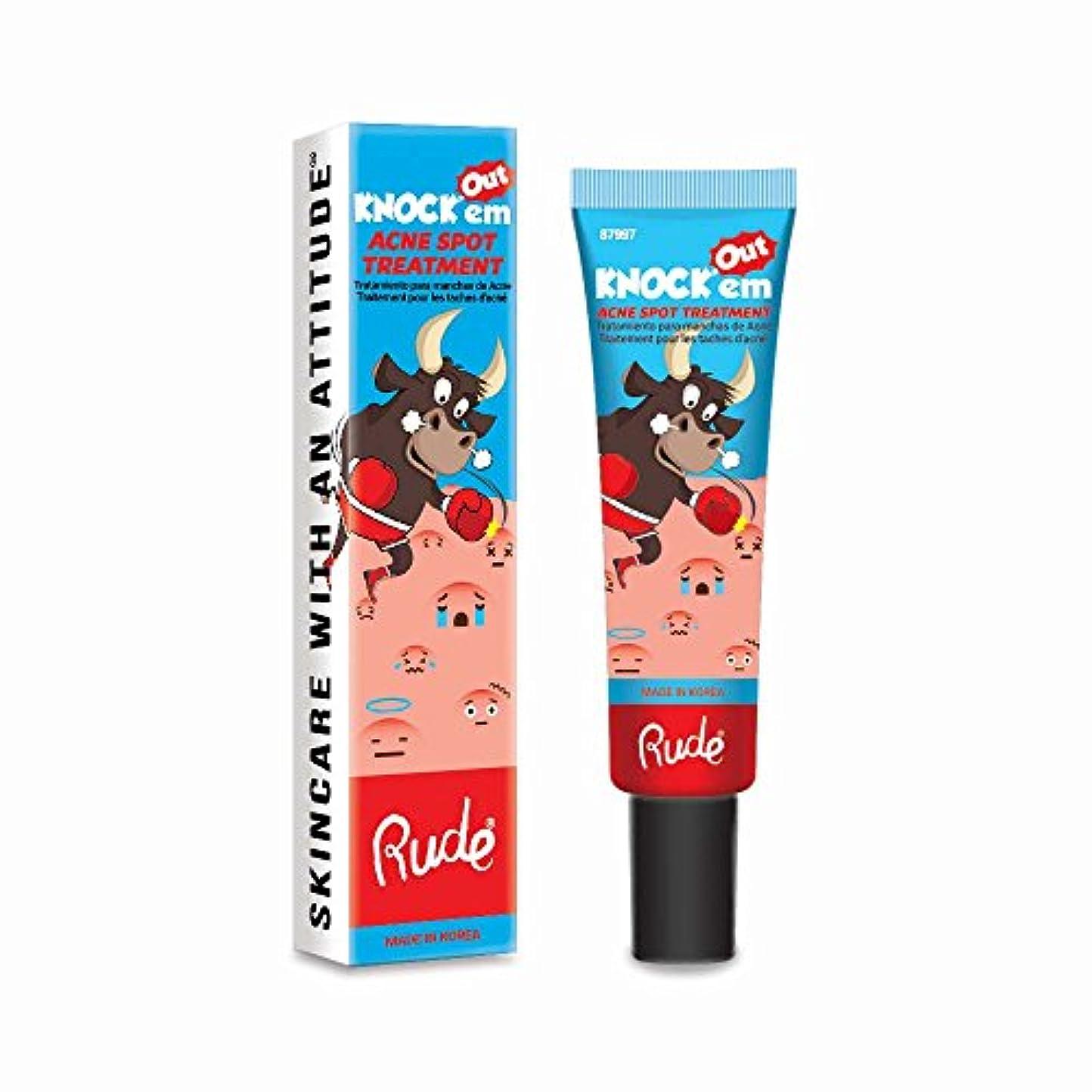 五十おもしろい行商人(6 Pack) RUDE Knock'em Acne Spot Treatment (並行輸入品)