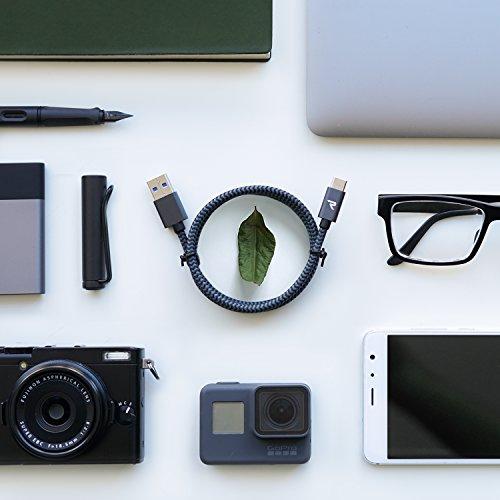 Rampow USB Type C ケーブル【1m/黒/保証付き】USB3.1 タイプc ケーブル QuickCharge3.0対応 Sony Xperia XZ/XZ2, Samsung Galaxy S9/S8/A3/A7/A9/C5/7pro/C9, Macbook Pro, Nexus 5X/6P, GoPro Hero 5/6 アンドロイド多機種対応 3A急速充電 5Gbps高速データ転送