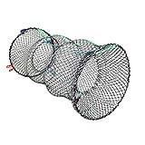 CoolTack 魚のトラップザリガニのカニトラップネットエビロブスターケージ折りたたみポータブル釣りアクセサリーカニネット