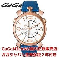 [ガガミラノ]GAGA MILANO 腕時計 メンズ レディース MANUALE THIN CHRONO 46mm マニュアーレ46mm クロノ 5098.01BL