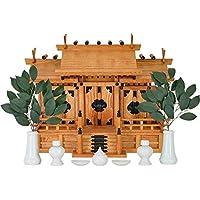 神棚の匠 神棚 新ケヤキ 三社造り 床落とし式 清正 小